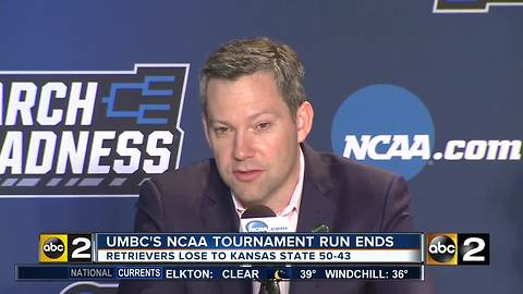 UMBC loses to Kansas State 50-43 in the second round of the NCAA Tournament