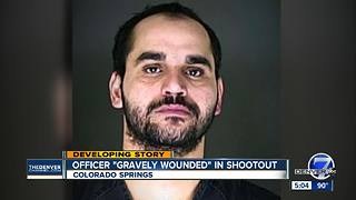 Police officer shot, critically wounded in Colorado Springs; suspect identified