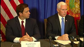 Vice President Mike Pence discusses coronavirus in Palm Beach County