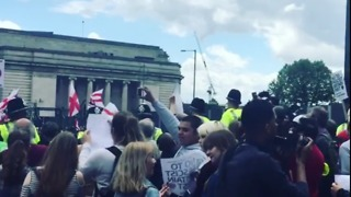 Counter Protesters Gather Near Britain First Rally in Birmingham - Video