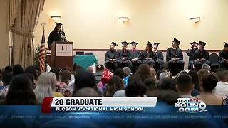 Twenty students graduate from Pima Vocational High School - Video
