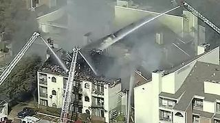 Apartment complex catches fire in Dallas, Texas