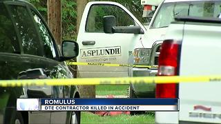 DTE contractor killed in accident - Video