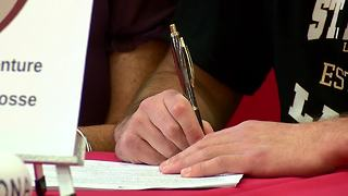 Andrew Hersey signs scholarship - Video