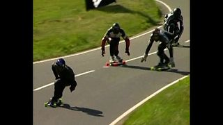 60mph Downhill Street Luge - Video