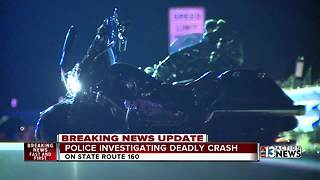 Husband and wife killed in motorcycle crash heading to Las Vegas - Video