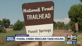 Safety alert for those at Fossil Creek, rescues taken hours - Video