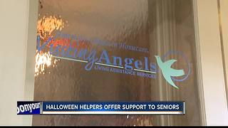 Halloween helpers offer support to seniors - Video