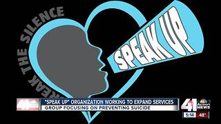 Group 'Speak Up' working to expand services - Video