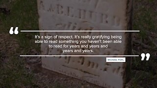 'It's a sign of respect;' St. Johns man picks up hobby cleaning gravestones during pandemic