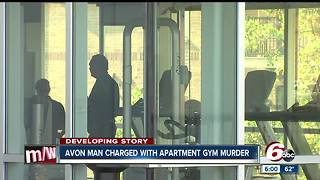 Avon man charged with Indianapolis apartment gym murder - Video