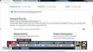 Howard County government website hacked - Video