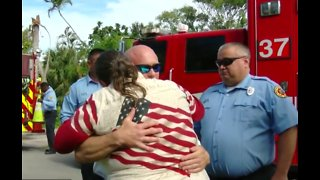 Lantana woman meets rescuers who saved her from house fire