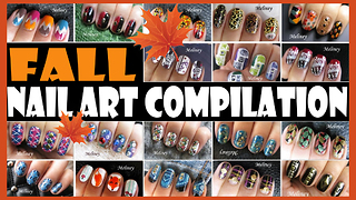 Fall nail art compilation: Meliney how-to autumn design tutorials - Video