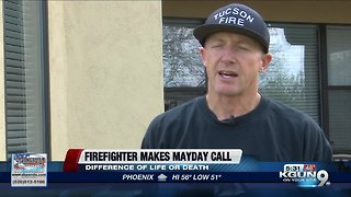Firefighter calls Mayday during fire rescue mission - Video