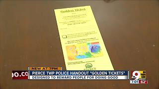 Pierce Township police hand out 'golden tickets' - Video