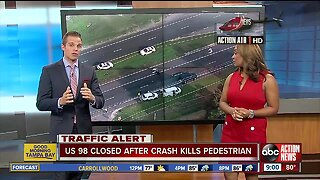 Pedestrian killed after being hit by two vehicles in Lakeland