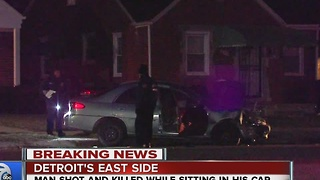 Man shot, killed while sitting in parked car on Detroit's east side - Video