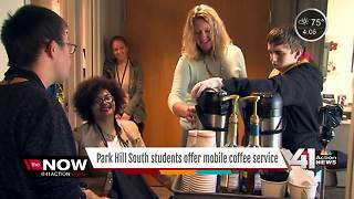 Coffee cart service teaches students life skills - Video
