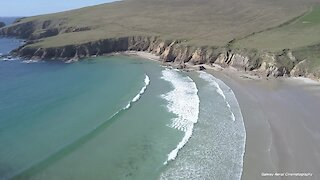 Drone captures Ireland's rugged shores and gentle beaches