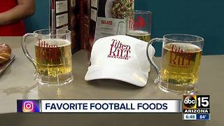 Tilted Kilt gives us a rundown of the best football foods - Video