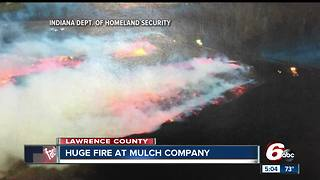 Seven-acre mulch fire forces evacuations - Video