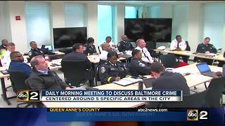 Daily morning meeting to discuss Baltimore crime - Video