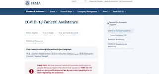 FEMA accepting COVID-19 funeral assistance applications