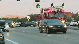 Crash on Daniels Parkway slows traffic - Video