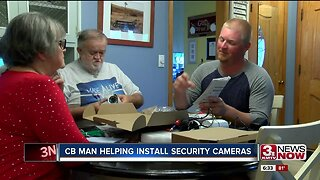 CB Man Helping Install Security Cameras