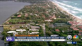 President expected to arrive for holiday visit - Video