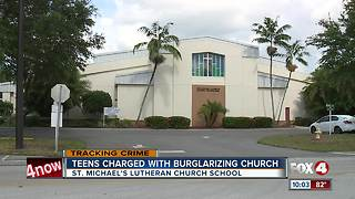 4 teens arrested for stealing from church school