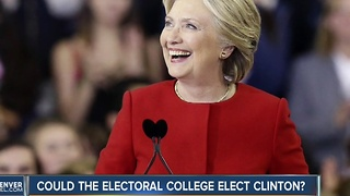 Could the electoral college elect Clinton?