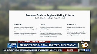 President rolls out plan to reopen the economy