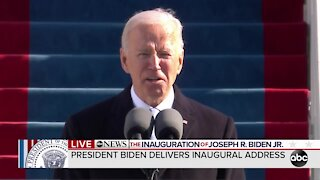 Biden calls Americans to empathy, action in first speech as President of the United States