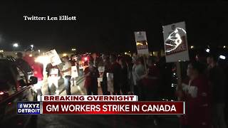 General Motors workers on strike at Ontario plant