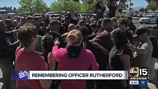 Prayer ceremony held for fallen Phoenix officer Paul Rutherford