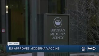 EU approves Moderna vaccine