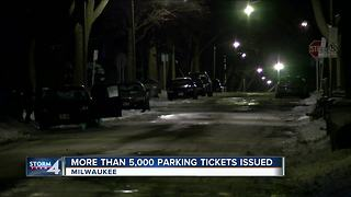More than 5,000 parking tickets issued