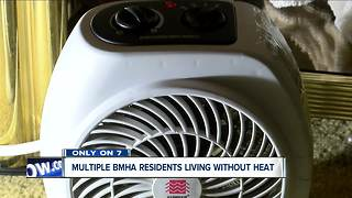 70-year old living in BMHA housing without heat or hot water - Video