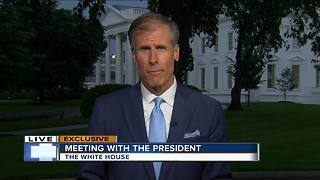 TODAY'S TMJ4's Charles Benson talks with President Trump in Washington D.C.