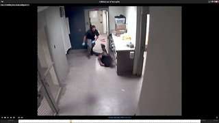 Video released of city lockup attendant beating handcuffed man in 2016
