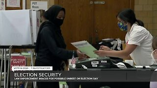 Law enforcement braces for possible unrest on election day