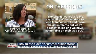 New rules to keep elderly cool during storms - Video