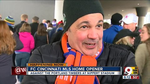 FC Cincinnati fans pack first MSL game with enthusiasm