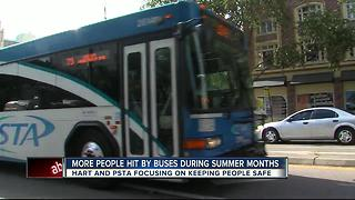 Report: Risk of getting hit by transit bus increases during summer months - Video