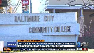 Mayor's program sending students to college for free kicks off - Video