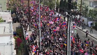 Thousands in Los Angeles March to Demand Armenian Genocide Recognition - Video