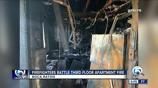 Firefighters battle apartment fire in Boca Raton