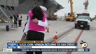 Mom reunites with son upon his return from deployment - Video
